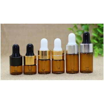 Garrafa de conta-gotas de óleo refinado, garrafa de embalagem de vidro, garrafa de tubo
