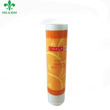 tubo de empacotamento plástico do tubo de empacotamento do pattan do fruto do creme de corpo alaranjado