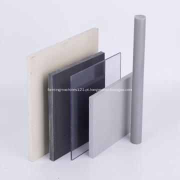 Folha de plástico PVC rígido cinza branco folha de PVC