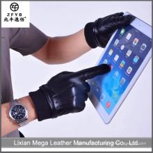 China atacado de alta qualidade Men Real Leather Luvas