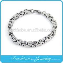 Collar de plata de acero inoxidable pesado Rolo collar Pulsera de plata Pulsera de acero inoxidable 316L Brazalete de los hombres