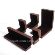 Luxo Brown Box Caixas de jóias Pulseira / Colar / brinco caixas