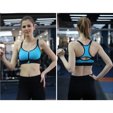 Vestuário de fitness mulheres esportes sutiã ativo 5 cor zíper
