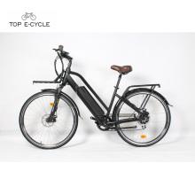Bicicleta eléctrica de la bicicleta de la bici e del cable impermeable lleno retro para la mujer
