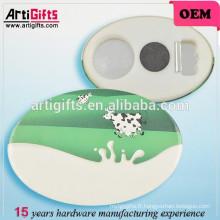 Badge promotionnel imprimant le bouton ovale d'insigne d'étain
