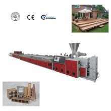 Ligne d'extrusion de matériaux composites extérieur WPC