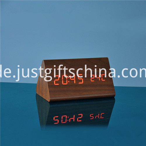 LED Wooden Clock 3