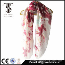 2015 fashion beautiful 100% polyester butterfly print square scarf                                                                         Quality Choice