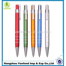 Qualidade superior preço barato logotipo alumínio Metal promoção caneta