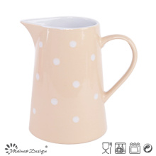 Pink Glazing with White DOT Pitcher