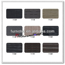 T097 450 * 300mm PVC Ribbed Dark Color Placemat