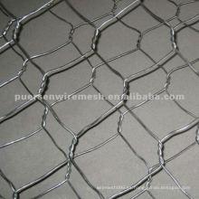 Malla de alambre hexagonal galvanizada por inmersión en caliente (hierro de bajo contenido de carbono)