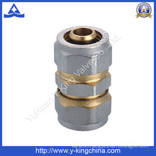 Brass Straight Coupling Fitting with Compression Ends (YD-6056)