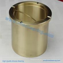 Casquillos de guía de rodillo con bridas de aceite de bronce libre de aluminio, basados en aleaciones de cobre Lingotes de cojinetes de Materical, casquillo de brida de bronce fundido
