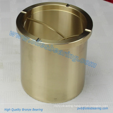 Aluminum Bronze Oil Free Flanged Roller Guide Bushes,Based On Copper Alloys Ingots Materical Bearing,Cast Bronze Flange Bush