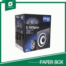 Boîte de papier ondulée de pliage / brillant / gravant en refief / UV de coutume fait sur commande