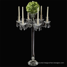 beautiful crystal wedding centerpiece 5 arms candelabra