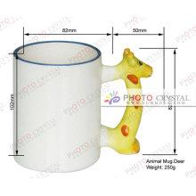 Taza de cerámica del animal