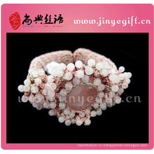 Мода Ювелирные Изделия Ручной Работы Розовый Крючком Бисером Браслеты Девушка Драгоценный Камень