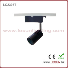 Kleine 7W 3 Draht COB LED Track Light mit schwarzer Farbe LC2307t