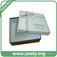 Decorative Cardboard Paper Gift Keepsake Box with Ribbon