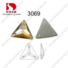 Artificial Triangle Sew on Stone Crystal Accessories for Garment