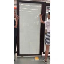 Puerta frontal de madera de diseño de puerta abatible puerta invisible