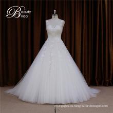 Vestido de boda del cordón del precio al por mayor princesa soñadora