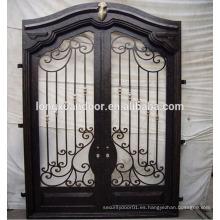 Puertas de seguridad exteriores puertas de puerta de hierro forjado