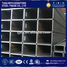 tube carré poids 40 * 40 creux soudés ERW Q 235 tube carré en acier