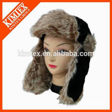 2016 sombrero caliente vendedora caliente del Earflap de la piel del cordero con el calentador del oído