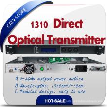 Ökonomisch Direktmodulator 1310nm CATV Fiber Transmitter