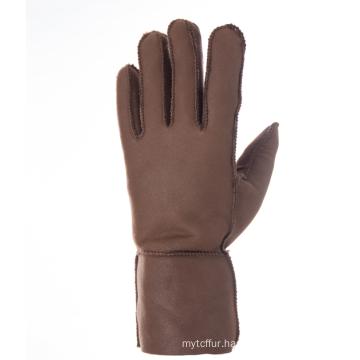 Fashion Sheepskin Fur Gloves with Real Lambskin