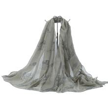 Elefante hermoso impreso bufanda larga