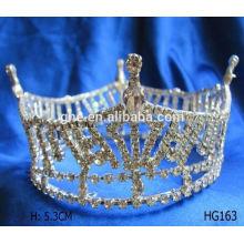 Fábrica de alta qualidade diretamente coroa de flor de tiara