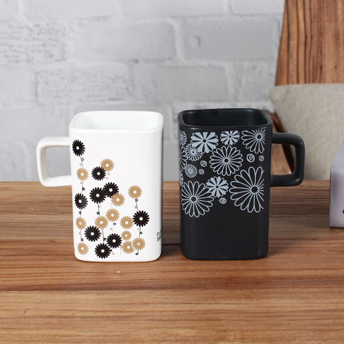 couple square coffee mug