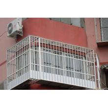 Mode noire garantie de qualité et clôture en fer forgé pour fenêtre