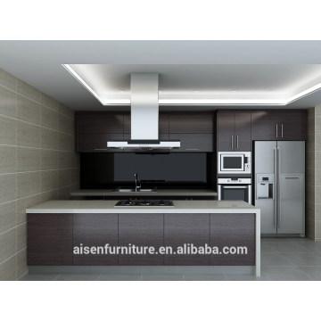 Modernes Naturholz-Furnier-Küchenschrank
