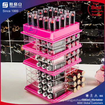 Hot Sale Colorful Rotating Acrylic Lipstick Holder
