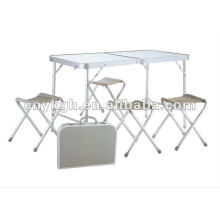 Aluminum folding table and beach chairs sets