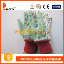 Garden Gloves. Flower Cotton Back (DGS304)