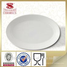 Vente chaude hôtel porcelaine, plaque de porcelaine blanche, pas cher plaques de chargeur en gros