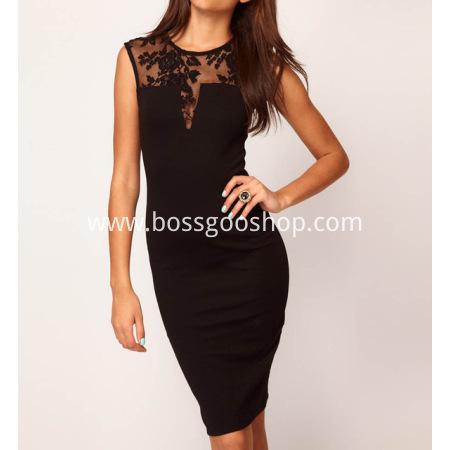 New 2016 Women Dress Sleeveless Slim Hip Sexy Lace Dress Bodycon Dresses Women Cocktail Party Dresses Vestidos