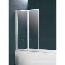 Aleación de aluminio dos pantalla de bañera bifold (2 veces baño pantalla BS-75)