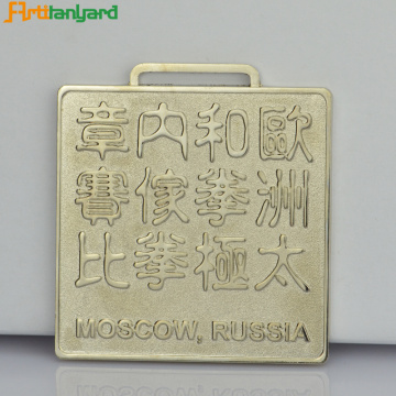 Customer Design Fashion Metal Silver Medal