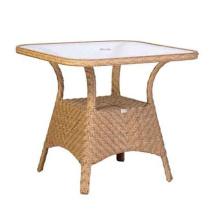 Table de Patio Jardin d'en osier de rotin résine mobilier d'extérieur