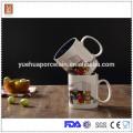 Gute Qualität 450ml doppelte Farbe Glasur Keramikbecher