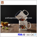 Good quality 450ml double color glaze ceramic mug