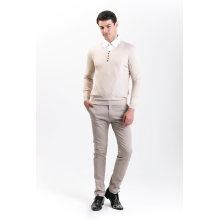 Men′s Fashion Cashmere Blend Sweater 18brssm003