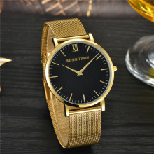 fashion stainless steel quartz movement watch
